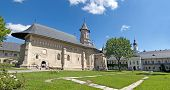 stock photo of reign  - Christian orthodox monastery church Neamt in Romania built in 15th century during Stephen the Great reign - JPG