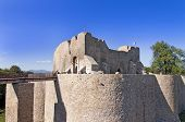 pic of reign  - Medieval castle citadel Neamt in Moldova Romania fortress build in 14th century during Petru I reign - JPG