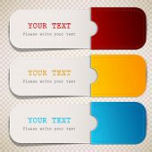 stock photo of bubble sheet  - Colorful bookmarks with place for text - JPG