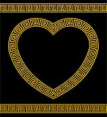 picture of nurture  - A heart shaped frame or border in the Greek Key pattern - JPG