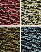 stock photo of conscript  - Selection of camouflage pattern in various colours - JPG