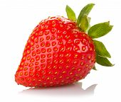 image of strawberry  - ripe strawberry isolated on a white background - JPG