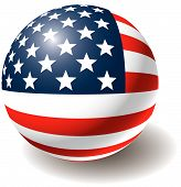 picture of usa flag  - USA flag texture on ball - JPG