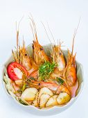 Tom Yum Spicy Soup With Shrimps Which Is Known In As Tom Yum poster