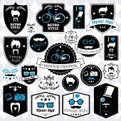 picture of cylinder  - Collection of vintage hipster badges - JPG