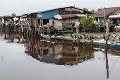 foto of malacca  - Sekinchan fishing village in Strait of Malacca - JPG