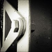 foto of girder  - Closeup of a steel girder - JPG