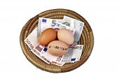 Постер, плакат: Корзина яиц и выхода на пенсию