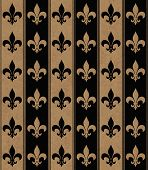Black And Beige Fleur De Lis Textured Fabric Background