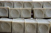 picture of olive shaped  - Blocks of Savon de Marseille made with olive oil - JPG