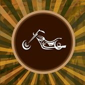vector Silhouette of classic motorcycle. moto icon