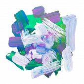 pic of dab  - art paint brush rough dab stroke texture spot blotch - JPG