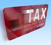 pic of irs  - Tax On Credit Debit Card Flying Showing Taxes Return IRS - JPG