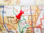picture of texas map  - Closeup of a map of El Paso Texas - JPG