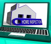 pic of inspection  - Home Inspection House Laptop Meaning Inspect Property Thoroughly - JPG