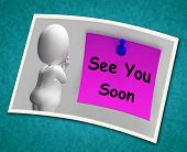 image of goodbye  - See You Soon Photo Meaning Goodbye Or Farewell - JPG