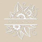 stock photo of lace  - Vector lace card - JPG