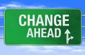 picture of road sign  - High resolution rendering of a road sign or highway sign with change ahead as the message - JPG