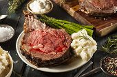 pic of rib eye steak  - Homemade Grass Fed Prime Rib Roast with Herbs and Spices - JPG
