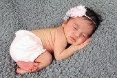 pic of girlie  - Newborn baby girl of Caucasian and Asian heritage - JPG