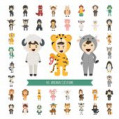 foto of king parrot  - Set of 40 Animal costume characters eps10 vector format - JPG