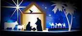stock photo of christmas baby  - Christmas Christian nativity scene - JPG