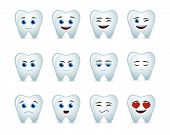 foto of human teeth  - Illustration of a cute tooth avatar expression set - JPG