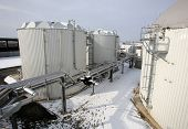 foto of sedimentation  - Organic waste plant from outside during the winter - JPG