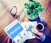 picture of proceed  - Digital Online Revenue Profit Office Working Concept - JPG