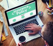 stock photo of policy  - Insurance Policy Protection Risk Security Concepts - JPG