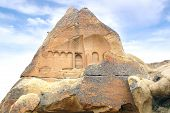 foto of chimney rock  - Picturesque landscape with Fairy chimneys Cappadocia in Turkey. ** Note: Visible grain at 100%, best at smaller sizes - JPG