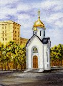 picture of novosibirsk  - Picture oil paints on a canvas - JPG