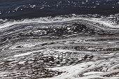 image of swirly  - Water with Swirly Patterns in Ottawa River - JPG