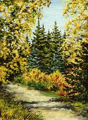 image of novosibirsk  - Picture oil paints on a canvas - JPG
