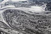 picture of swirly  - Water with Swirly Patterns in Ottawa River - JPG