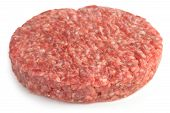 pic of beef-burger  - one beef burger isolated on white background