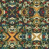 stock photo of symmetry  - Fantasy Middle Ages abstract seamless pattern - JPG