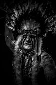 picture of indian chief  - traditional Native - JPG