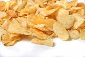 picture of kettles  - kettle chips spilling over on a white background - JPG