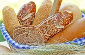 foto of whole-wheat  - Bread and pastry with whole-wheat flour and whole grain cereals