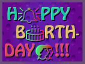 foto of birthday  - Colroful Birthday Card - JPG