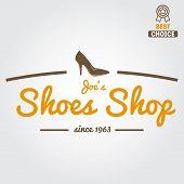 image of shoe  - Vintage logo or logotype elements for shoemaker - JPG