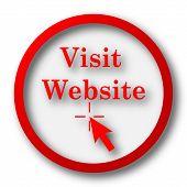 stock photo of visitation  - Visit website icon - JPG