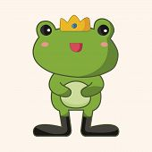 stock photo of cute frog  - frog prince theme elements - JPG