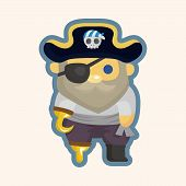 stock photo of pirate sword  - pirate theme elements - JPG