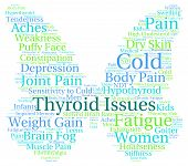 stock photo of fibromyalgia  - Thyroid issues butterfly shaped word cloud on a white - JPG
