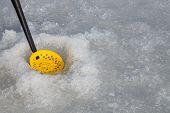 pic of ice fishing  - Ice fishing - JPG