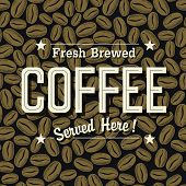 stock photo of brew  - Vintage Coffee Poster - JPG