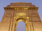 picture of india gate  - Close view of India Gate with lights at night New Delhi - JPG