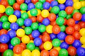 stock photo of playground  - Colorful plastic balls from the children - JPG